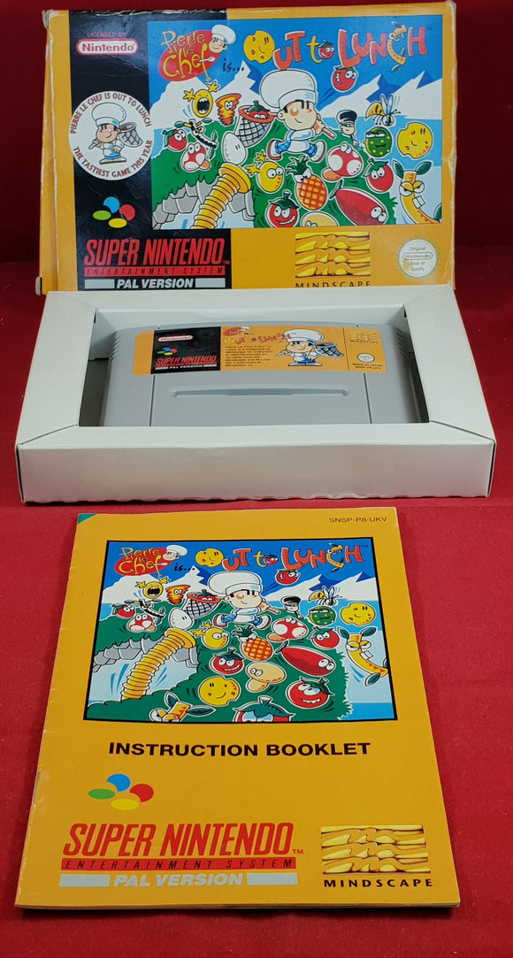 Pierre Le Chef is out to lunch Super Nintendo Entertainment System (SNES) Game