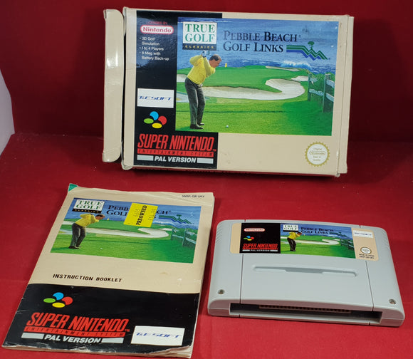Pebble Beach Golf Links Super Nintendo Entertainment System (SNES) Game