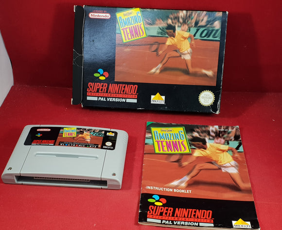 David Crane's Amazing Tennis Super Nintendo Entertainment System (SNES) Game