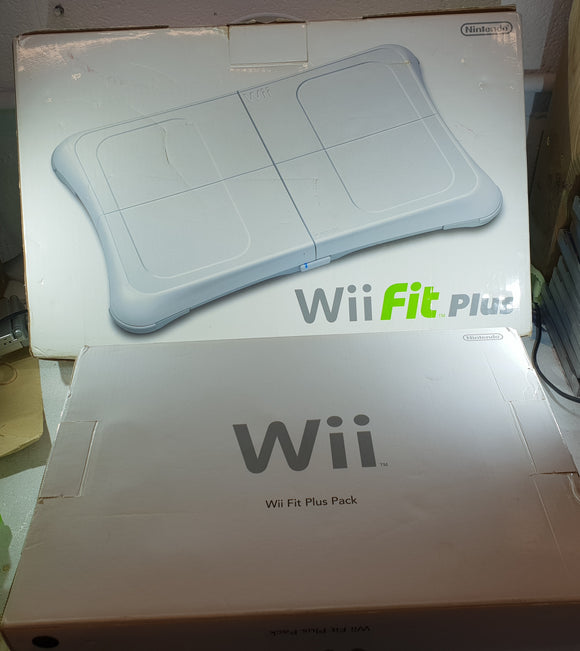 Nintendo Wii Console with Wii Fit Plus Board Accessory and Disc