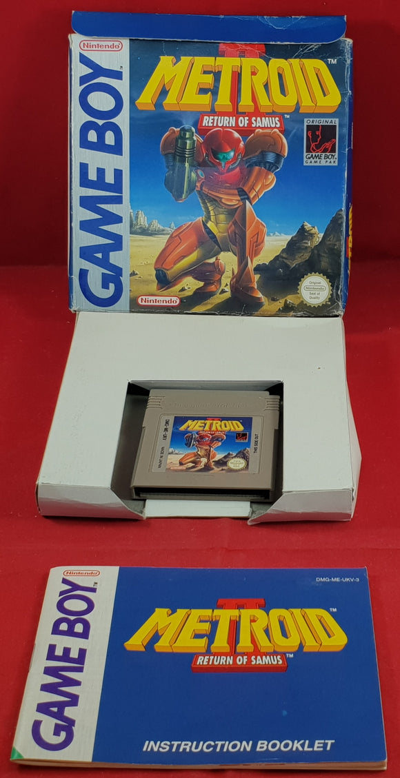 Metroid II Return of Samus Nintendo Game Boy Game