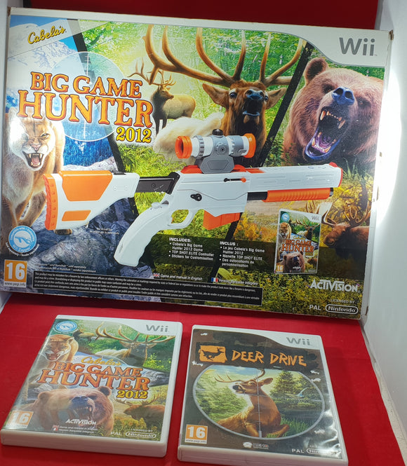 Top Shot Elite Controller with Big Game Hunter 2012 & Deer Drive Nintendo Wii Accessory & Games