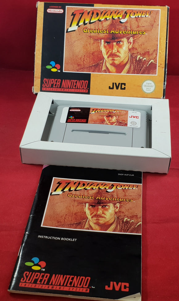 Indiana Jones Greatest Adventures Super Nintendo Entertainment System (SNES) RARE Game