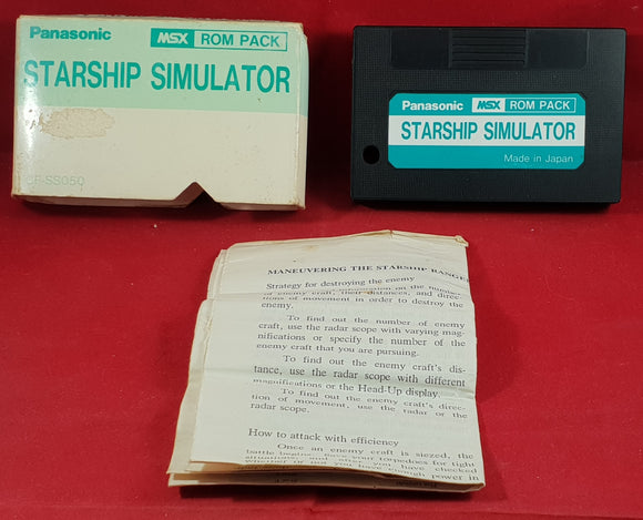 Starship Simulator MSX Ultra RARE Game