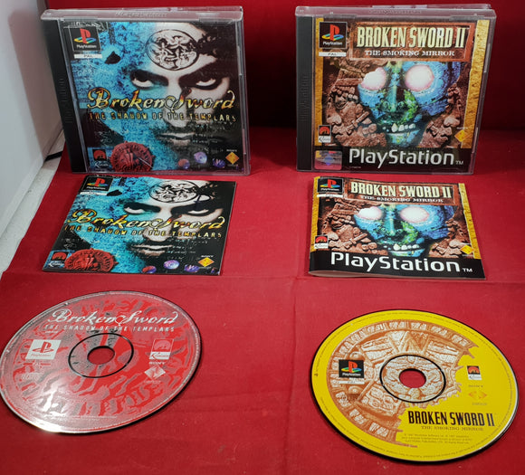 Broken Sword & Broken Sword II: The Smoking Mirror Sony PlayStation 1 (PS1) Game Bundle