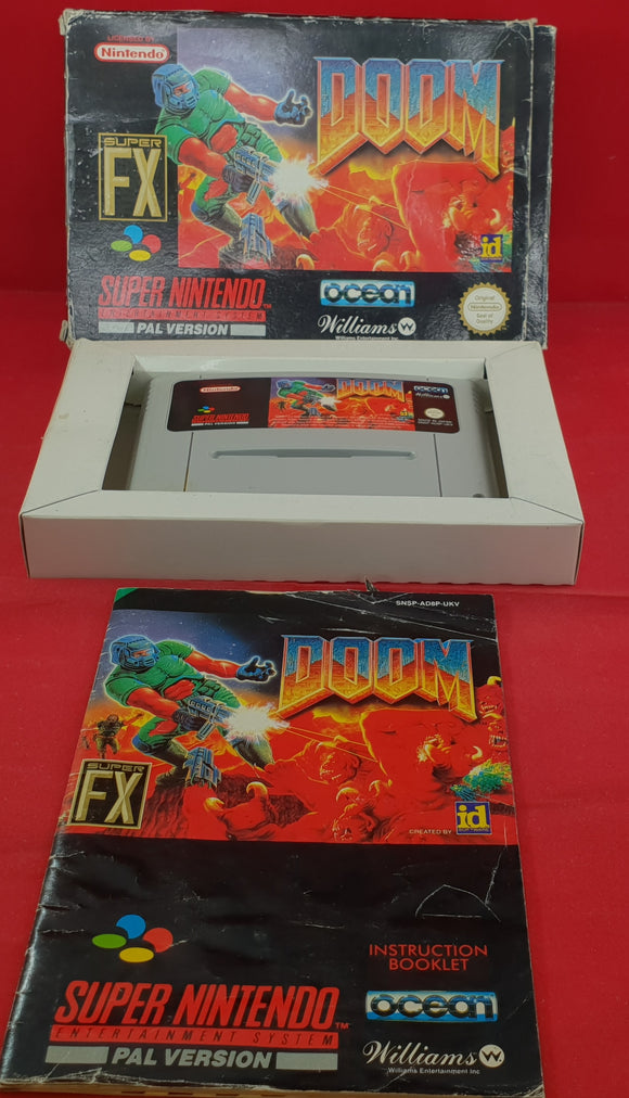 Doom Super Nintendo Entertainment System (SNES) Game