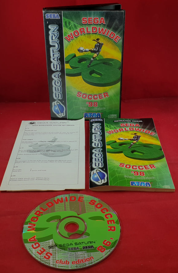 Sega Worldwide Soccer 98 Club Edition Sega Saturn Game