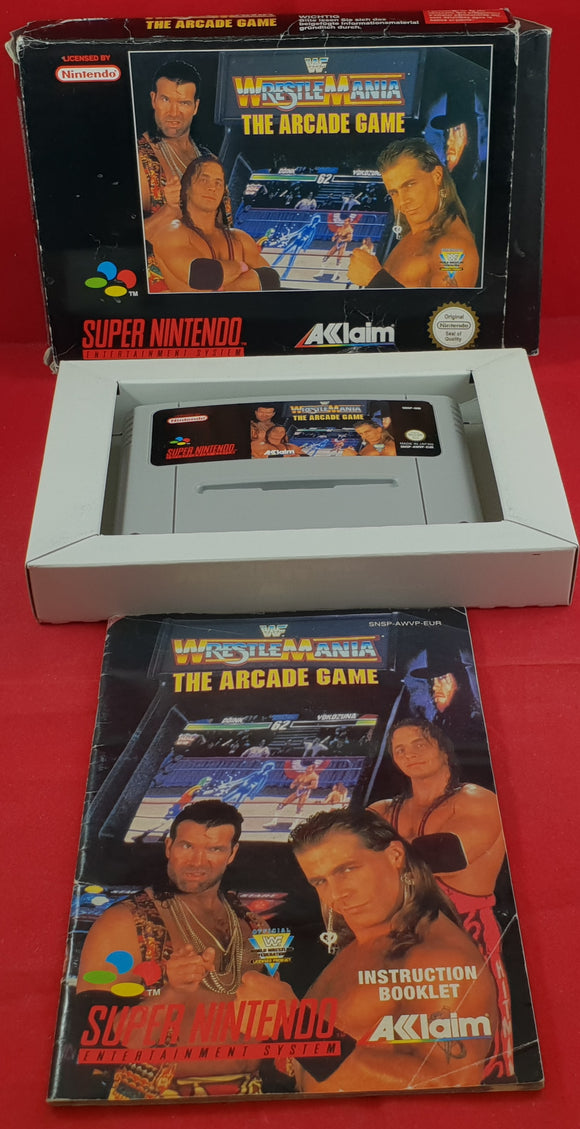 WWF Wrestlemania The Arcade Game Super Nintendo Entertainment System (SNES) Game