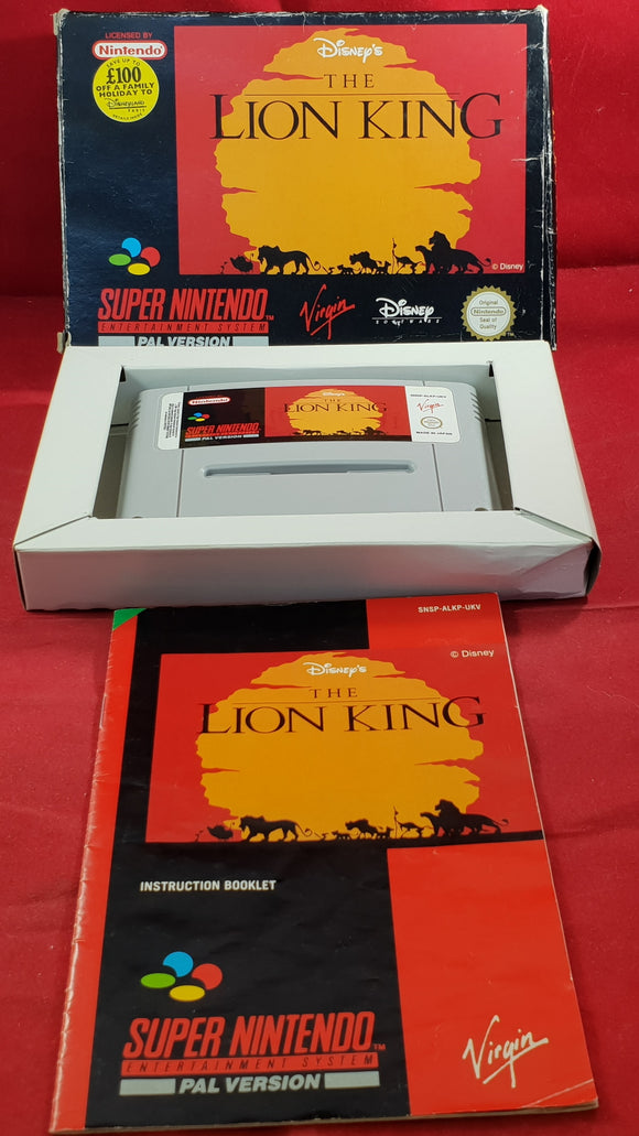 Disney's The Lion King Super Nintendo Entertainment System (SNES) Game.