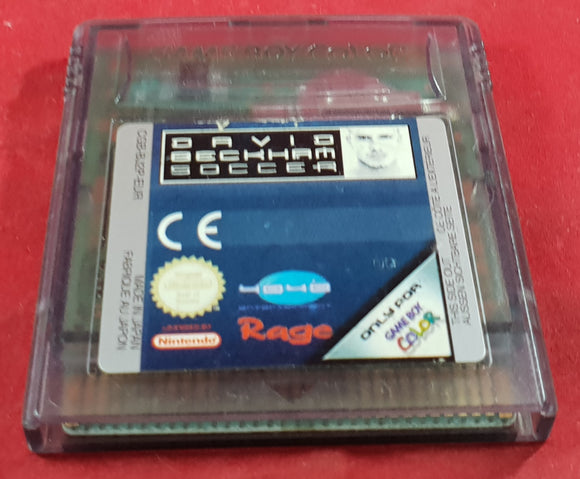 David Beckham Soccer Cartridge Only Nintendo Gameboy Color RARE Game