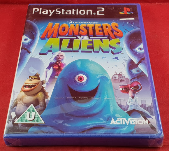 Brand New and Sealed Monsters Vs Aliens Sony Playstation 2 (PS2) Game