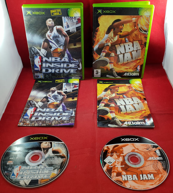 NBA Jam & Inside Drive 2002 Microsoft Xbox Game Bundle