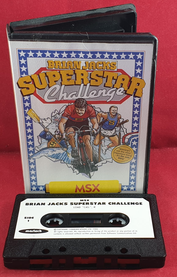 Brian Jacks Superstar Challenge MSX Game