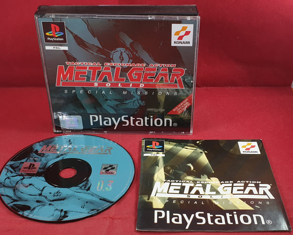 Metal Gear Solid Special Missions Sony PlayStation 1 (PS1) Game
