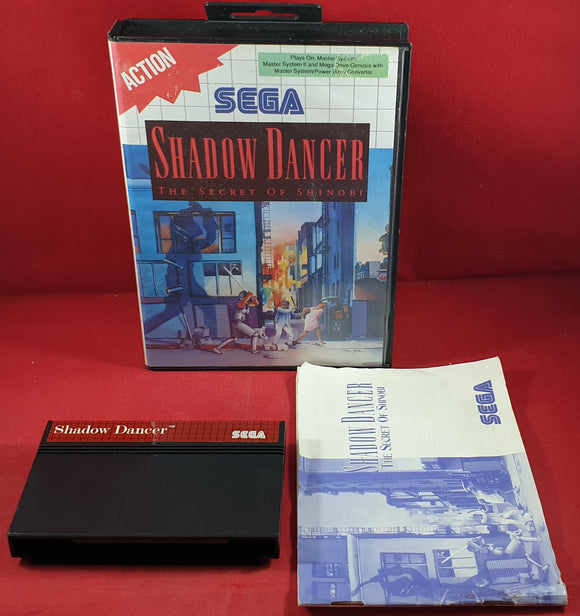 Shadow Dancer the Secret of Shinobi Sega Master System Game