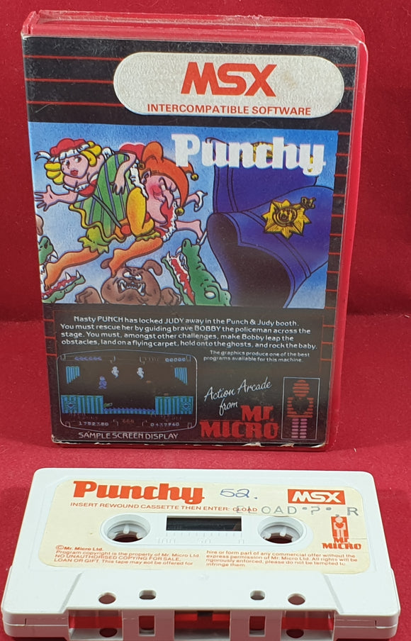 Punchy MSX RARE Game