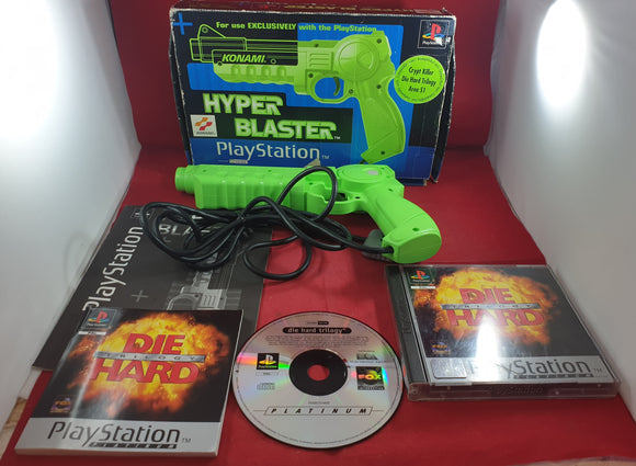 Konami Hyper Blaster Sony Playstation 1 (PS1) RARE Accessory with Die Hard Trilogy