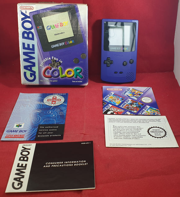Boxed Purple Game Boy Color Console