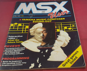 MSX User April 1985 Magazine Book