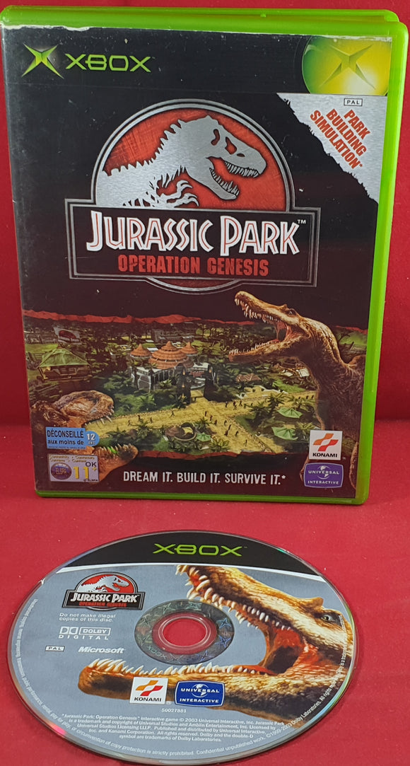 Jurassic Park Operation Genesis Microsoft Xbox Game