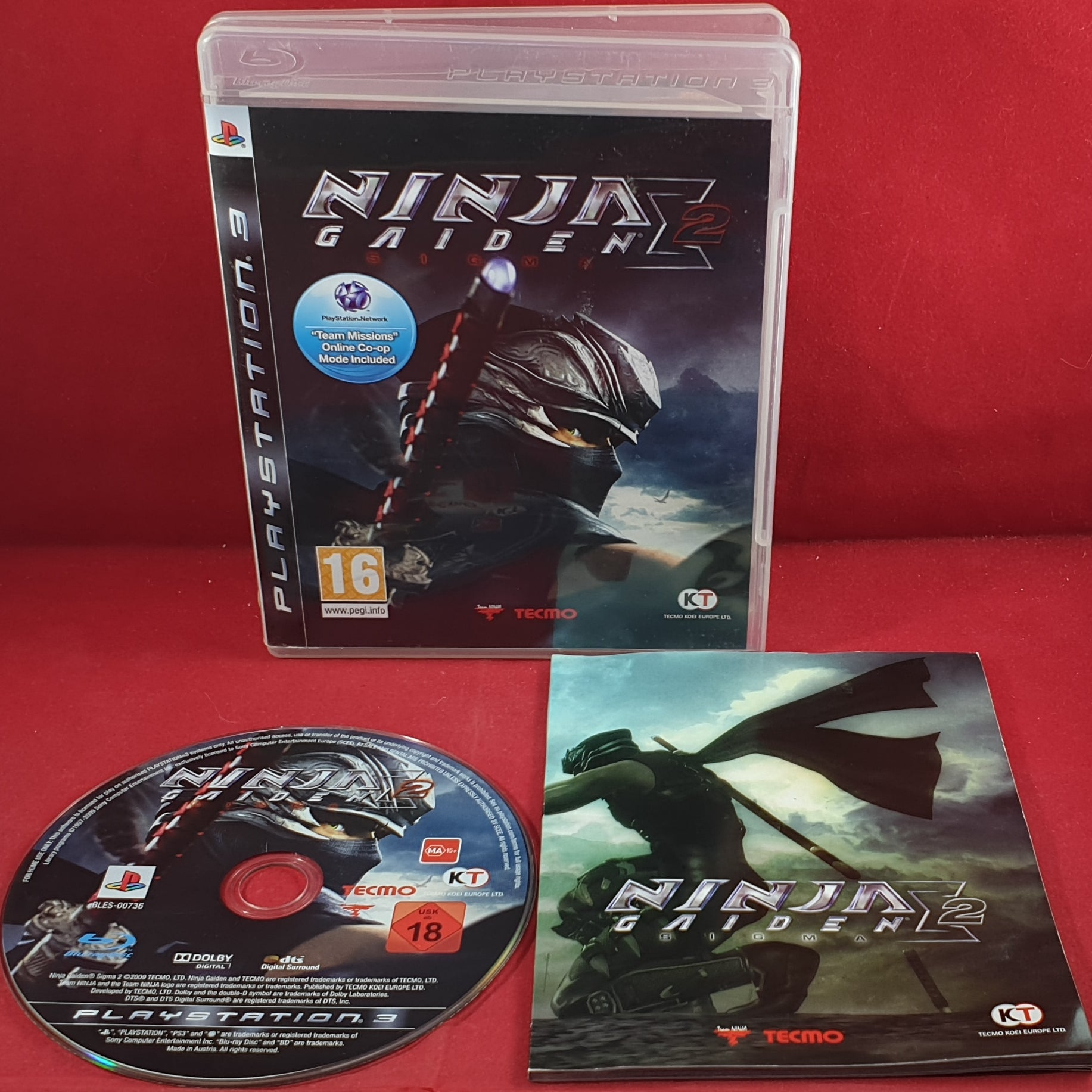 Ninja Gaiden Sigma 2 Sony Playstation 3 Ps3 Game Retro Gamer