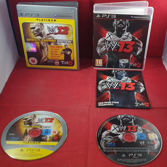 WWE 12 & 13 Sony Playstation 3 (PS3) Game Bundle