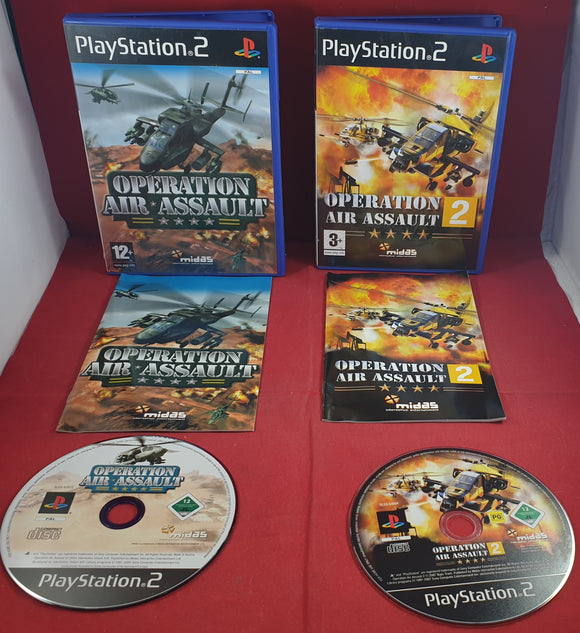 Operation Air Assault 1 & 2 Sony Playstation 2 (PS2) Game Bundle