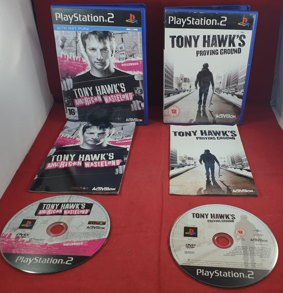 Tony Hawk's American Wasteland & Proving Ground Sony Playstation 2 (PS2) Game Bundle