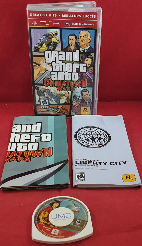 Grand Theft Auto Chinatown Wars with Map Sony PSP Game