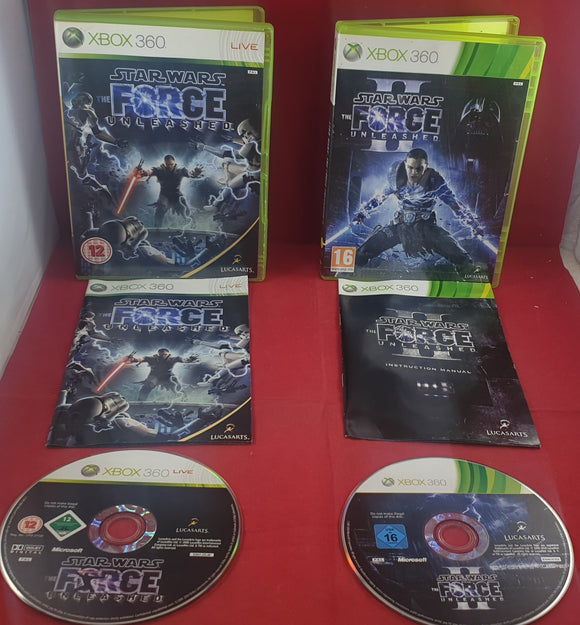 Star Wars Force Unleashed 1 & 2 Microsoft Xbox 360 Game Bundle