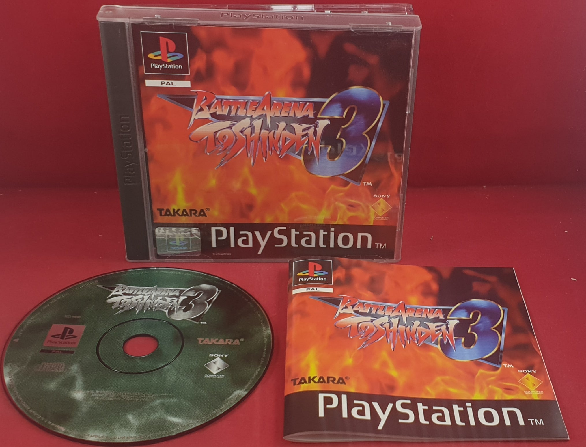 Battle Arena Toshinden 3 Sony Playstation 1 Ps1 Rare Game