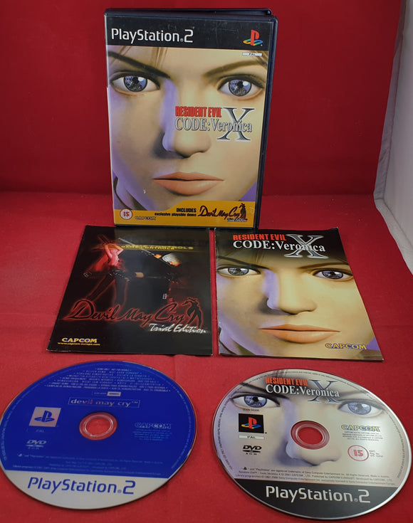 Resident Evil Code Veronica X Black Label Sony Playstation 2 (PS2) Game