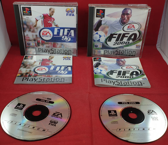 Fifa 99 & 2000 Sony Playstation 1 (PS1) Game Bundle