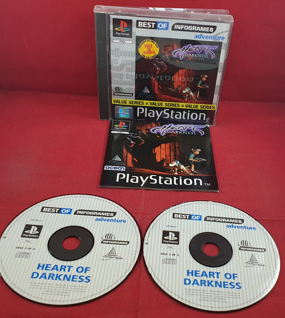 Heart of Darkness Best of Infogrames without glasses Sony Playstation 1 (PS1) Game