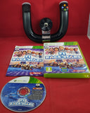 Wireless Speed Wheel & F1 Race Stars Microsoft Xbox 360 Game & Accessory