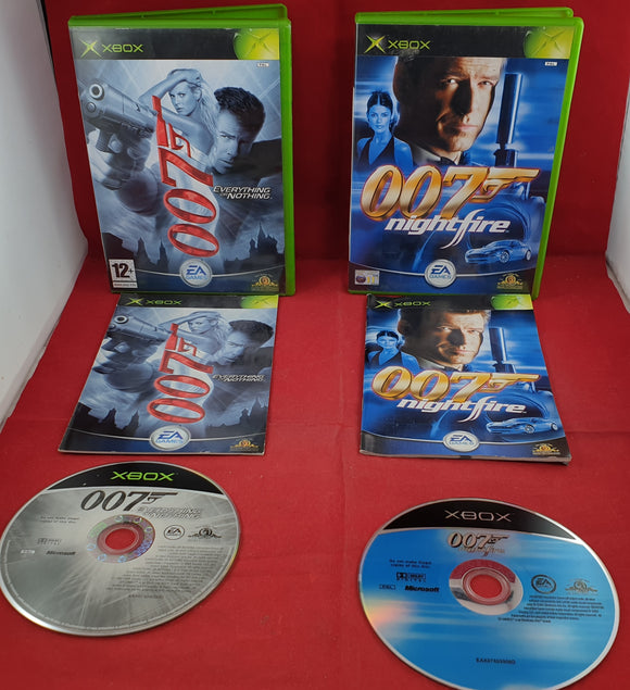 James Bond 007 Nightfire & Everything or Nothing Microsoft Xbox Game Bundle