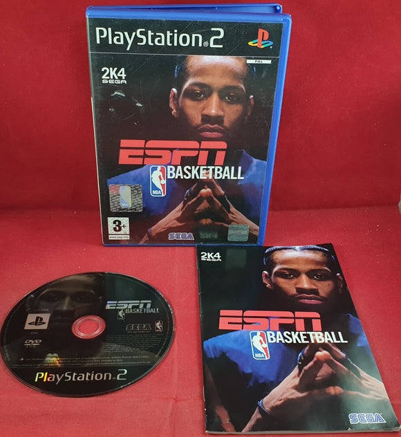 ESPN NBA Basketball Sony Playstation 2 (PS2) RARE Game