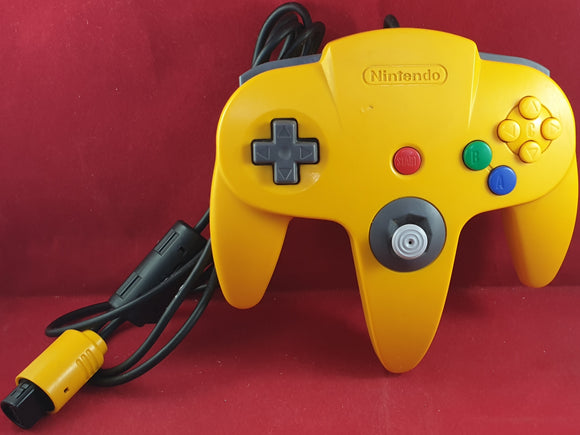 Yellow Official Nintendo 64 (N64) Controller Accessory