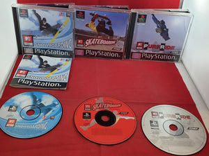MTV Sports Snowboarding, Skateboarding & Pure Ride Sony Playstation 1 (PS1) Game Bundle