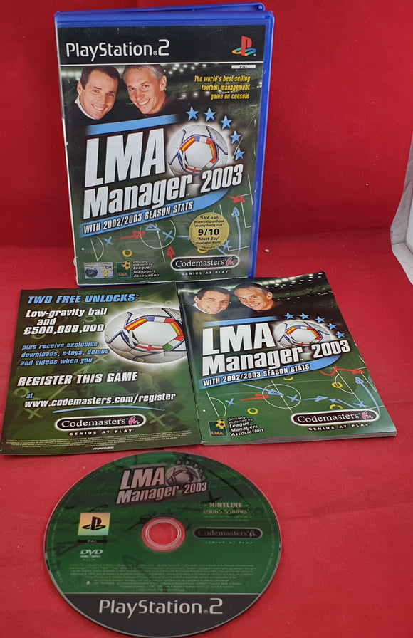 LMA Manager 2003 Sony Playstation 2 (PS2) Game