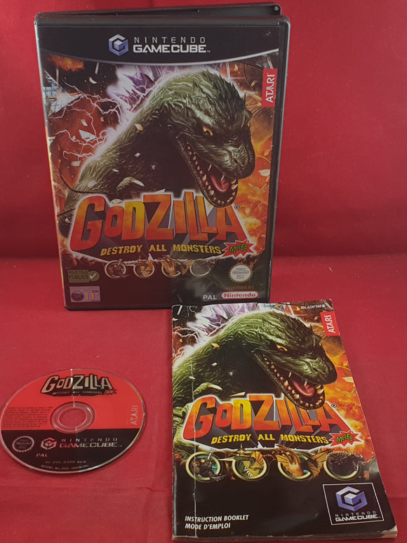 Godzilla Destroy All Monsters Melee Nintendo Gamecube Game