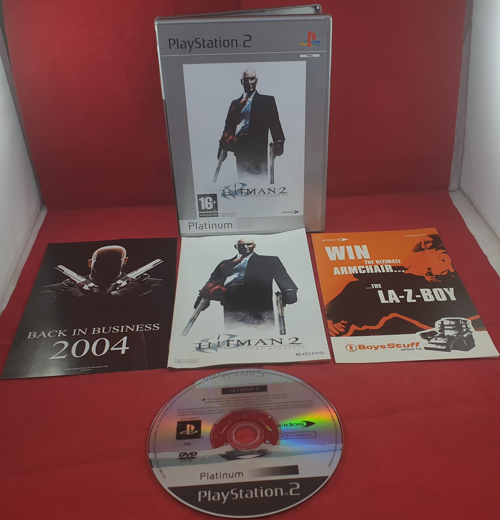 Hitman 2 Silent Assassin Platinum Sony Playstation 2 Ps2 Game