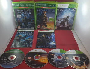 Halo 3, 4 & Wars Microsoft Xbox 360 Game Bundle