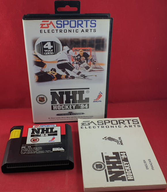 NHL Hockey 94 Sega Mega Drive RARE Game