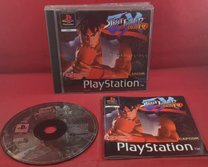 Street Fighter Ex Plus a Black Label Sony Playstation 1 (PS1) RARE Game