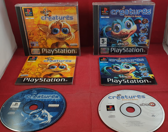 Creatures & Creatures Raised in Space PS1 (Sony PlayStation 1) game bundle