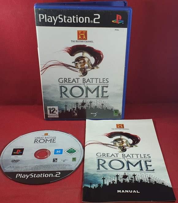 The History Channel Great Battles of Rome Sony Playstation 2 (PS2) Game