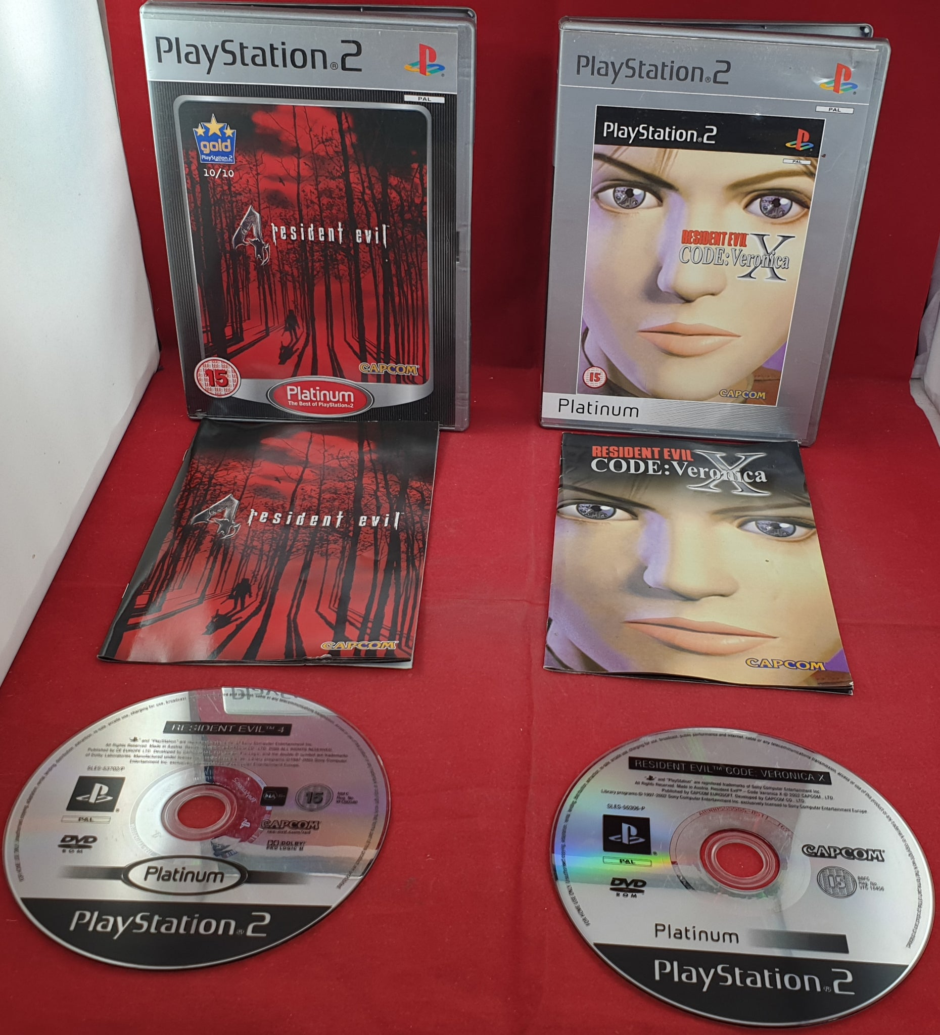 Resident Evil 4 Code Veronica X Sony Playstation 2 Ps2 Game
