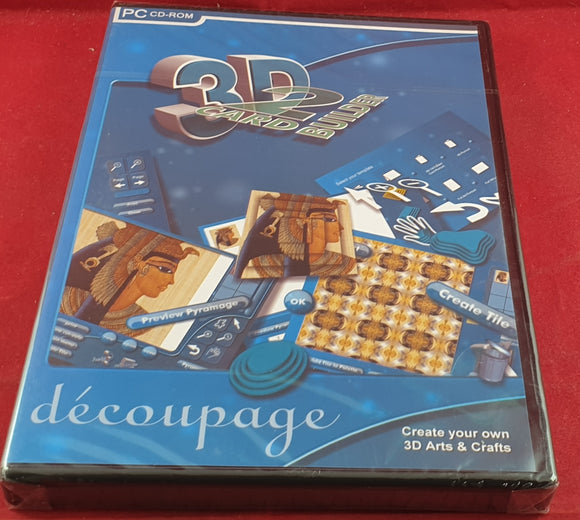 Brand New and Sealed 3D Decoupage RARE PC Game