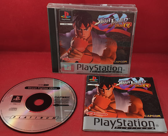 Street Fighter EX Plus a Platinum Sony Playstation 1 (PS1) RARE Game